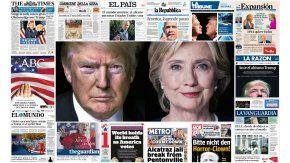 Donald Trump y Hillary Clinton están en las principales portadas de Europa