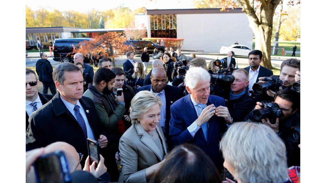 Hillary Clinton votó en Nueva York.