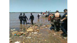 El cuerpo de Escobar, de 34 años, Chaco, fue hallado a las 11 en la costa  paraguaya.