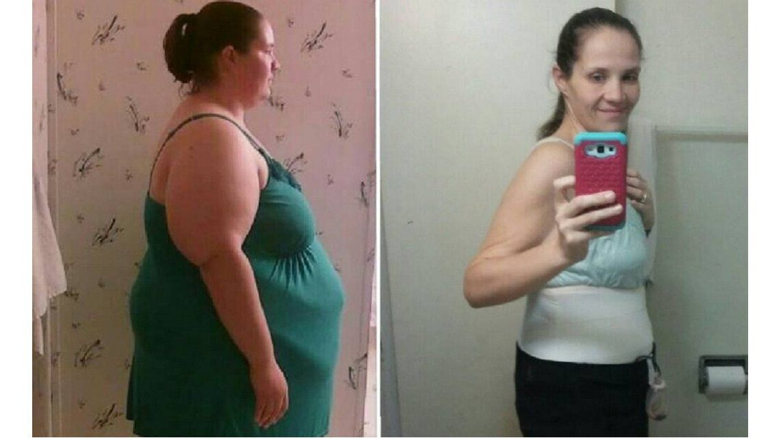 Celia Shroder bajo cien kilos en tres meses