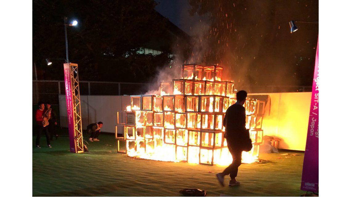 La estructura formaba parte del festival de arte