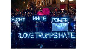 Protestas en Union Square en Nueva York contra el presidente electo Donald Trump. Crédito @Nigrotime