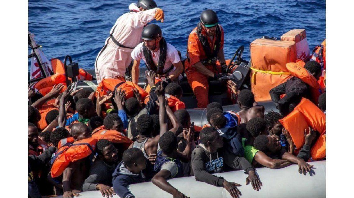 Naufragio en las costas de Libia