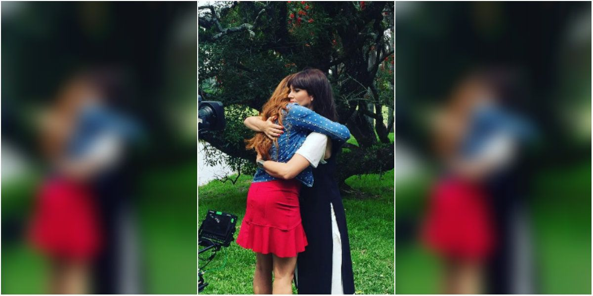 El último abrazo entre Nina y Mara