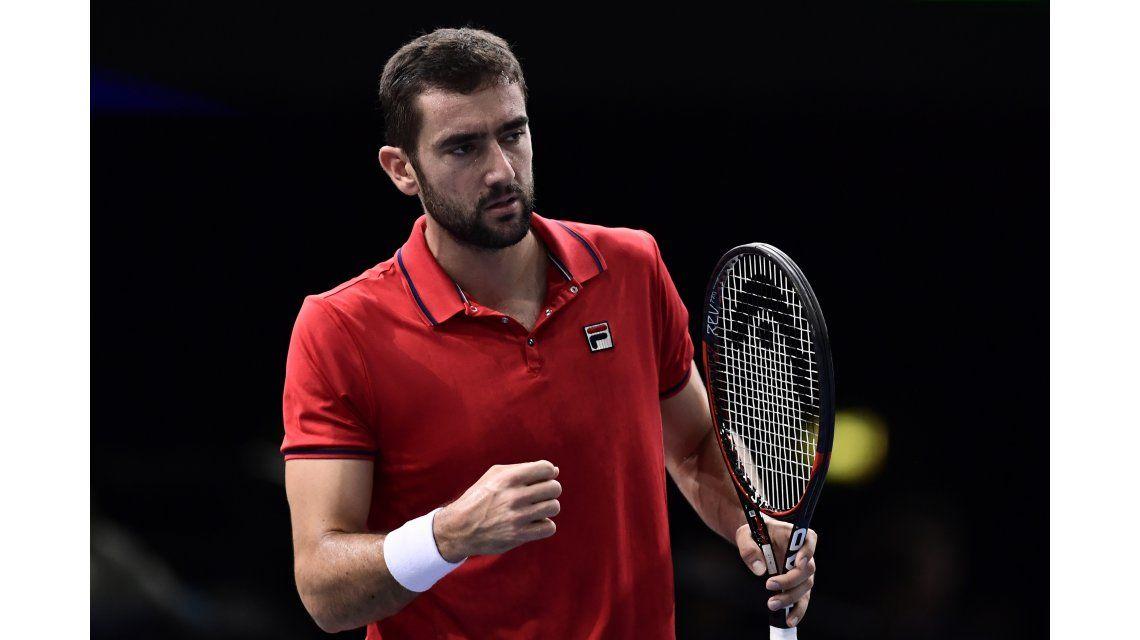 El croata Marin Cilic clasificó al Masters de Londres y llegará más cansado a la final de la Copa Davis