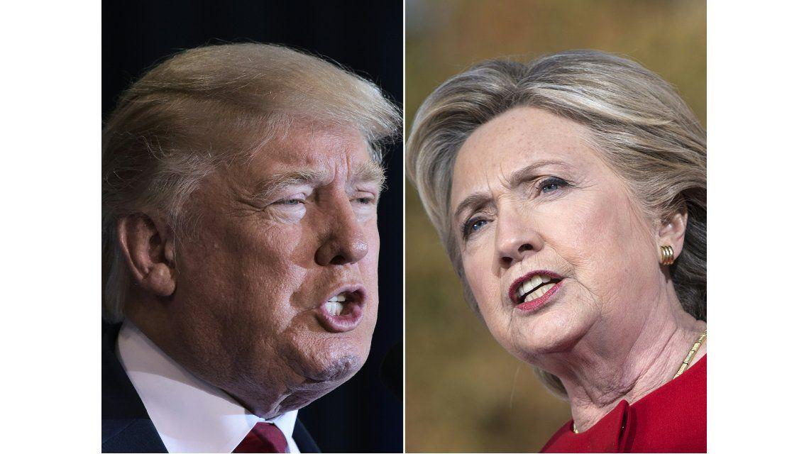 Donald Trump y Hillary Clinton se disputan voto a voto la presidencia de los Estados Unidos