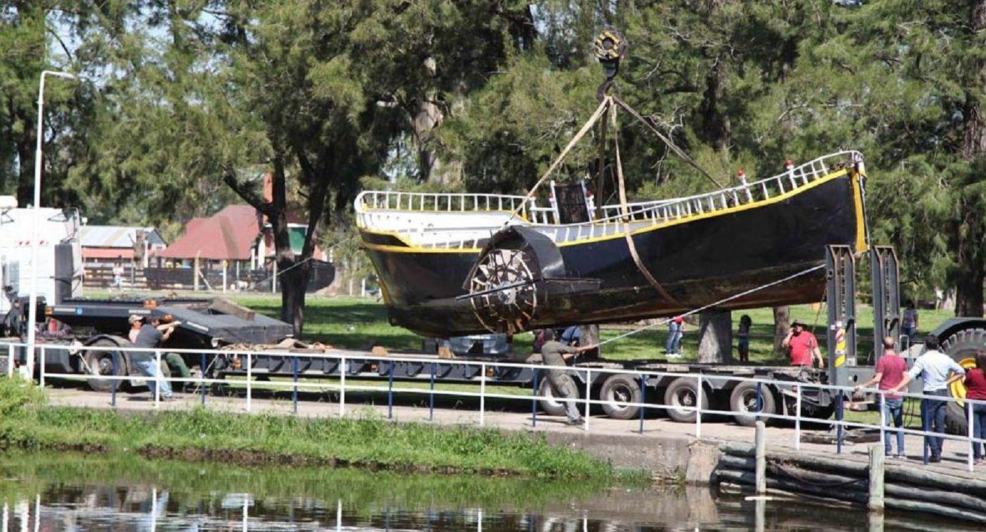 El barco República de los Niños fue retirado por primera vez en sus 65 años para hacerle arreglos - Crédito: Diario Hoy