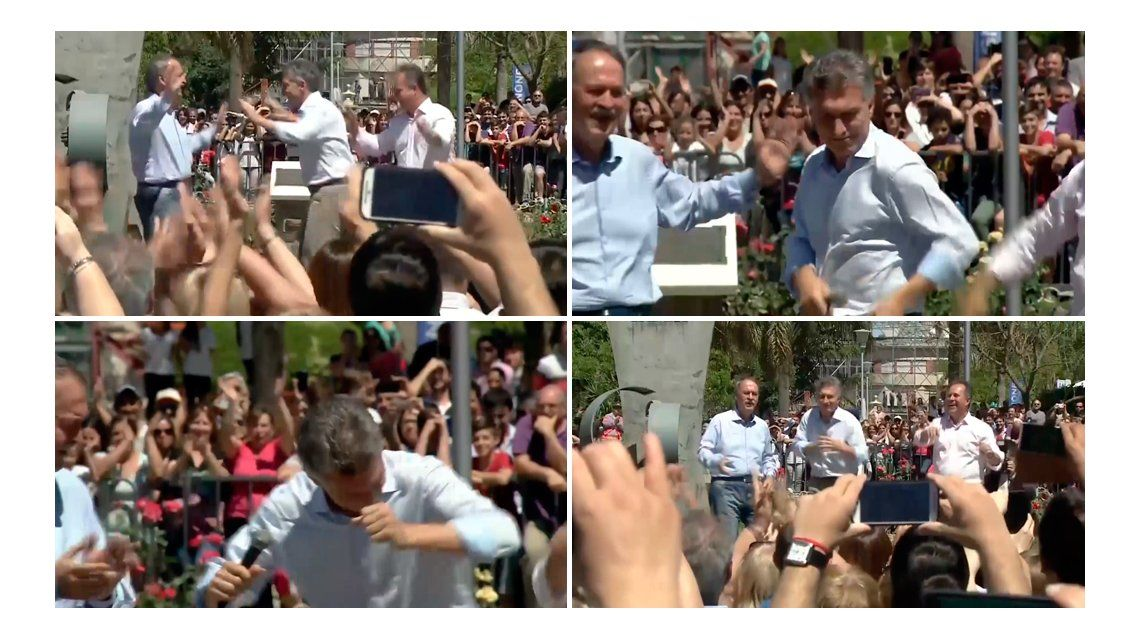 El Presidente bailando junto al gobernador cordobés