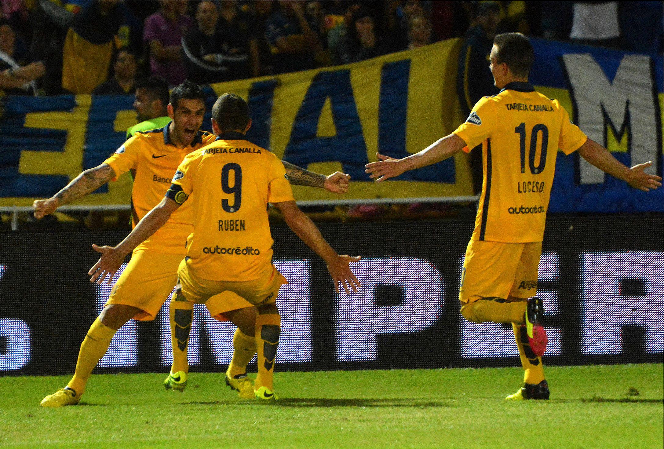 El festejo del primer tanto de Rosario Central ante Boca por Copa Argentina