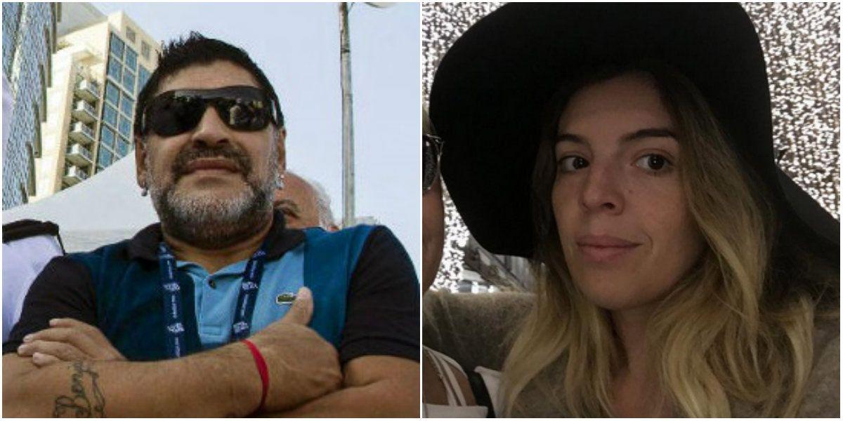 Dalma Maradona discutió con Diego por temas de dinero.