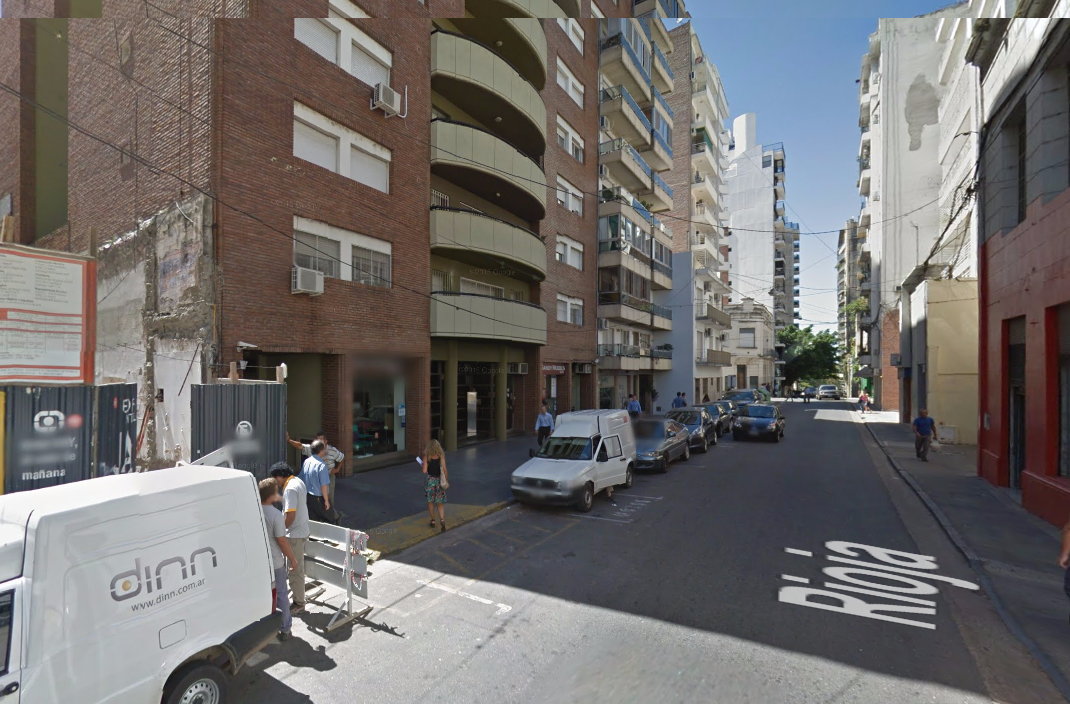Calle Rioja al 600 en Rosario