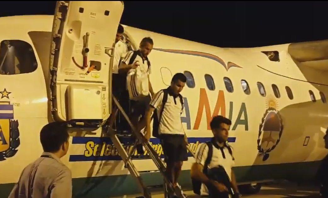 El avión de Lamia que llevó a la Selección a Brasil