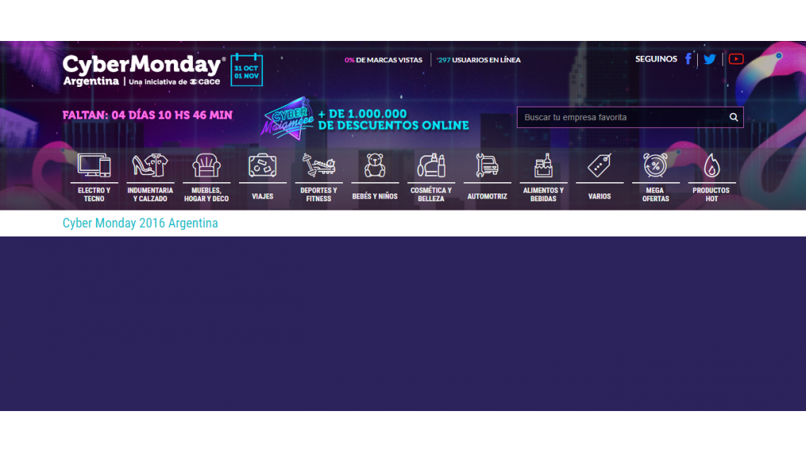 La Web de CyberMonday fue visitada por al menos 1