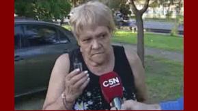 Alicia, una de las testigos del ataque de los barras en Mataderos