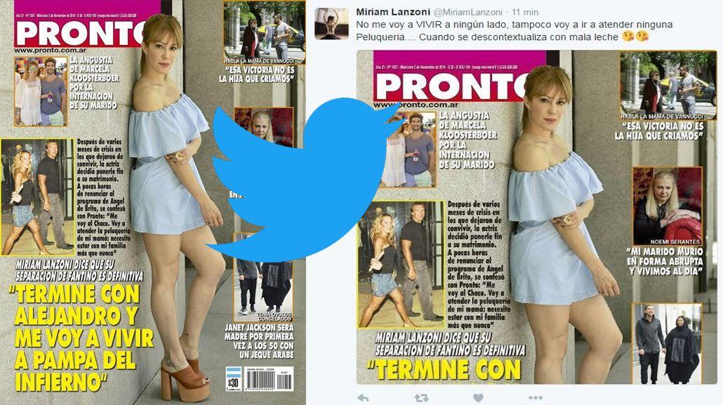 El descargo de Miriam en Twitter