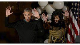 El matrimonio Obama celebró su último Halloween en la Casa Blanca