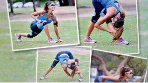 El entrenamiento de Catherine Fulop.