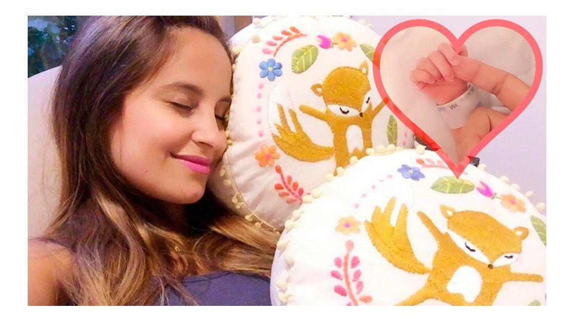 Lourdes publicó la primera foto de su hijo