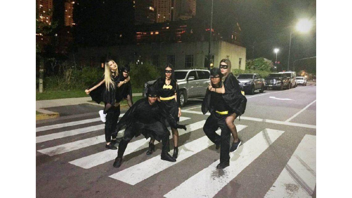 Tres jugadores de Boca celebraron Halloween vestidos de Batman