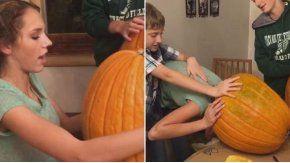 En la previa de Halloween, a una joven le salió mal una broma que hizo junto a su familia.