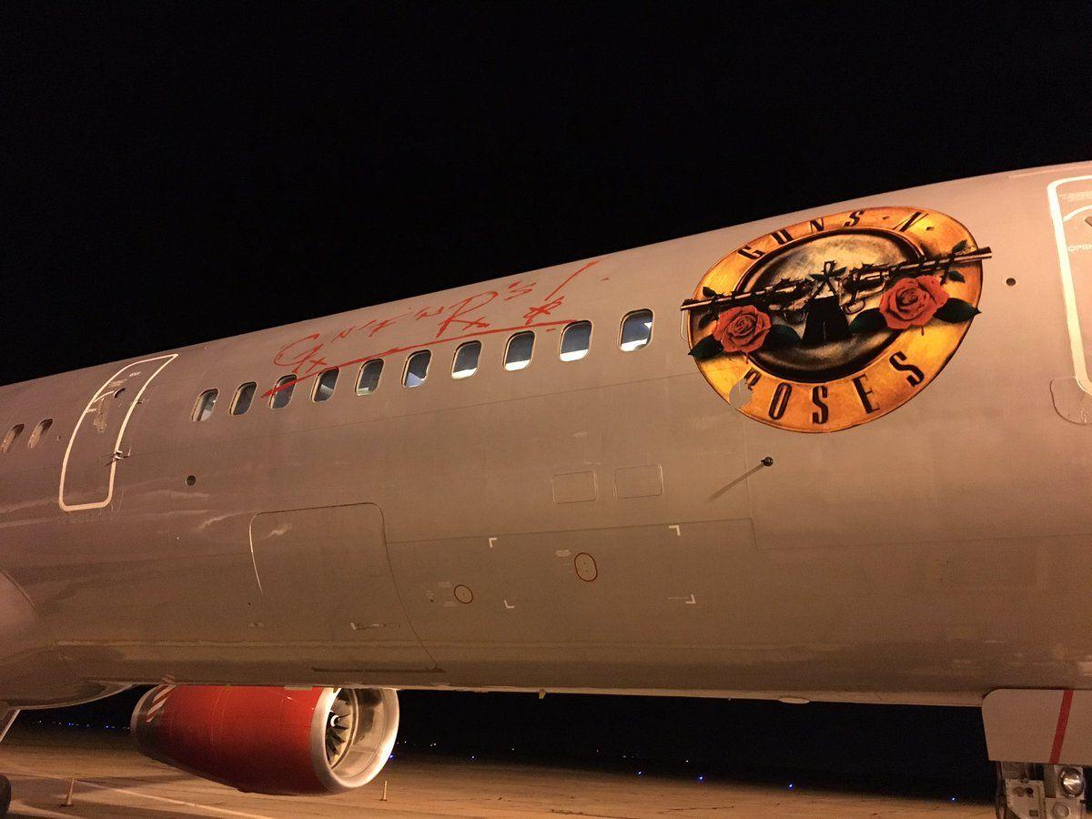 Avión de los Guns N Roses en Rosario