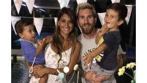 Messi y su mujer celebraron el cumpleaños de su hijo con una producción de fotos