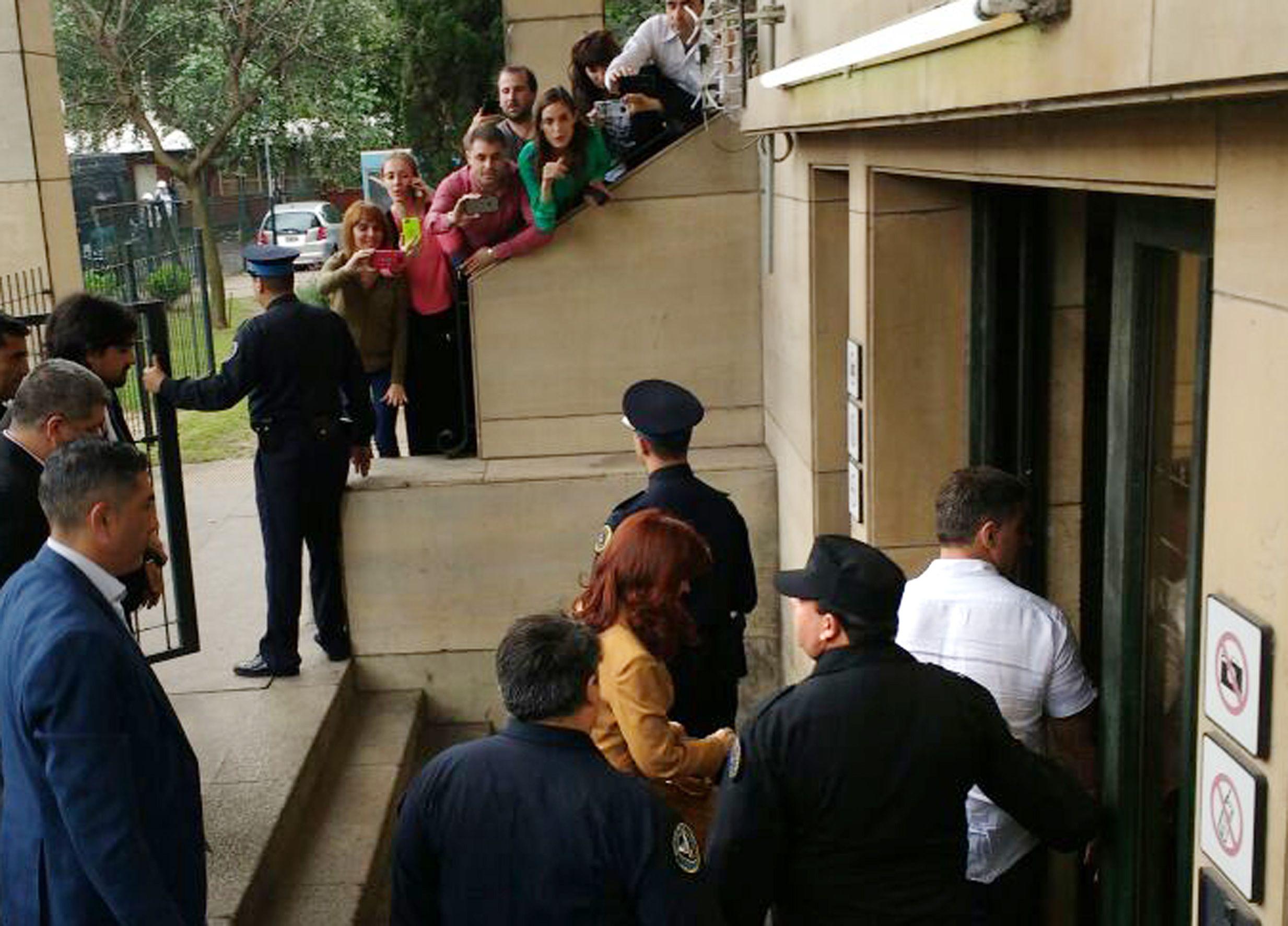Cristina Kirchner en Comodoro Py.