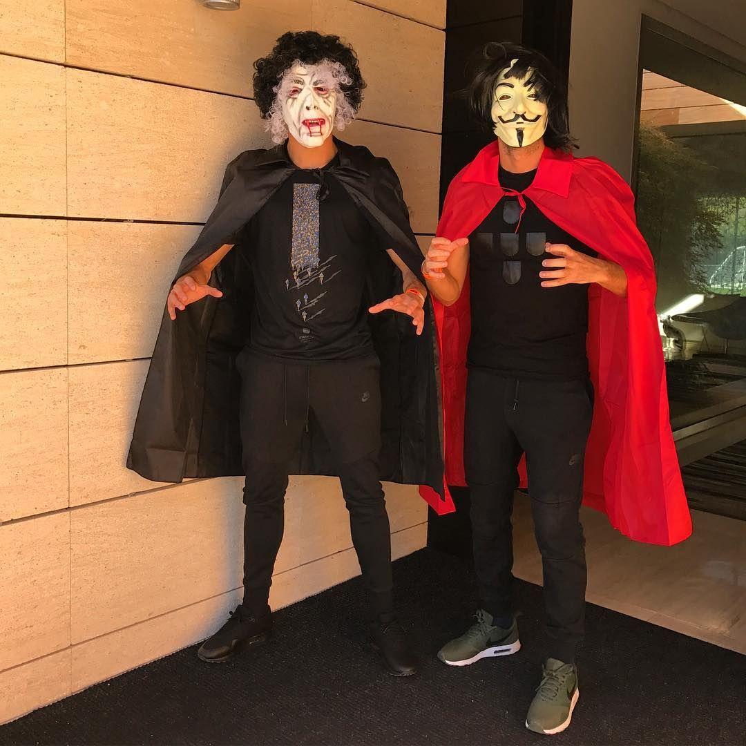 Cristiano Ronaldo se disfrazó por Halloween y compartió una foto en su cuenta de Instagram.