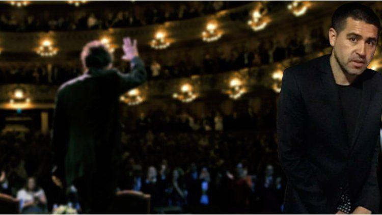 Juan Román Riquelme habló de su visita al teatro Colón para ver a Al Pacino.