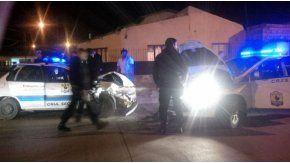 Choque de patrulleros en Santa Cruz