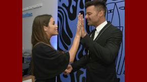 Ricky Martin y Lali Espósito, juntos en el Direct Tv Arena.