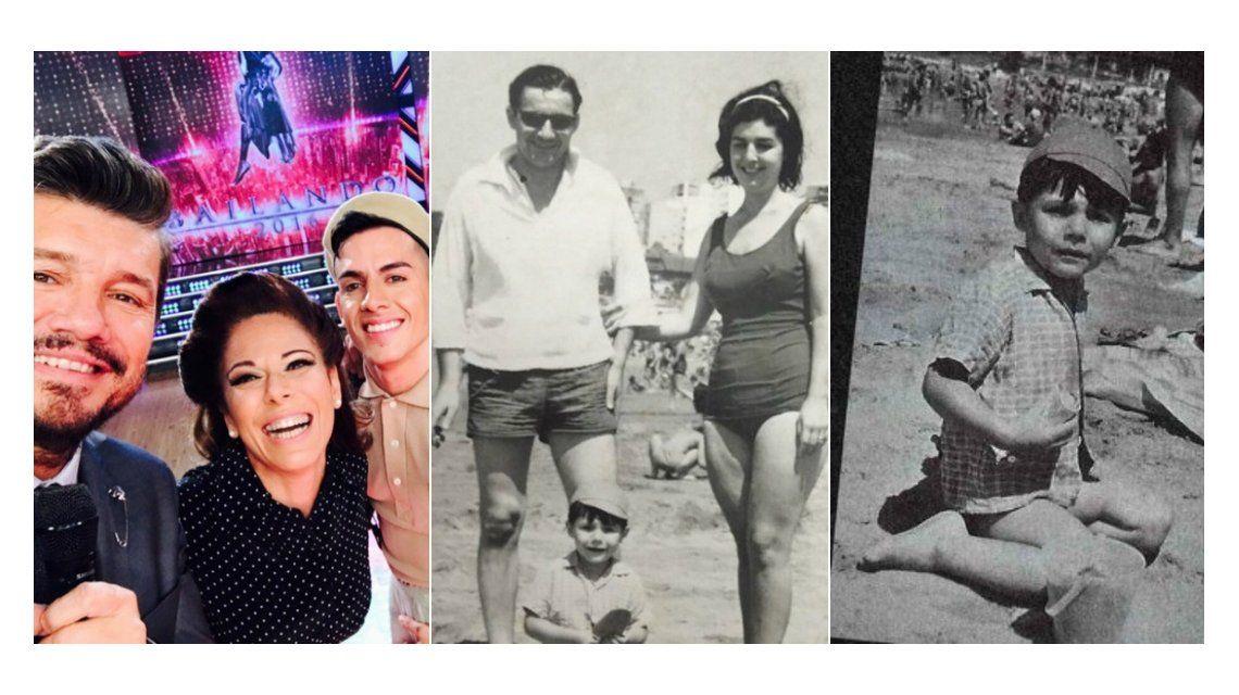 Emotiva sorpresa de Iliana a Tinelli: mostró fotos de los padres del conductor