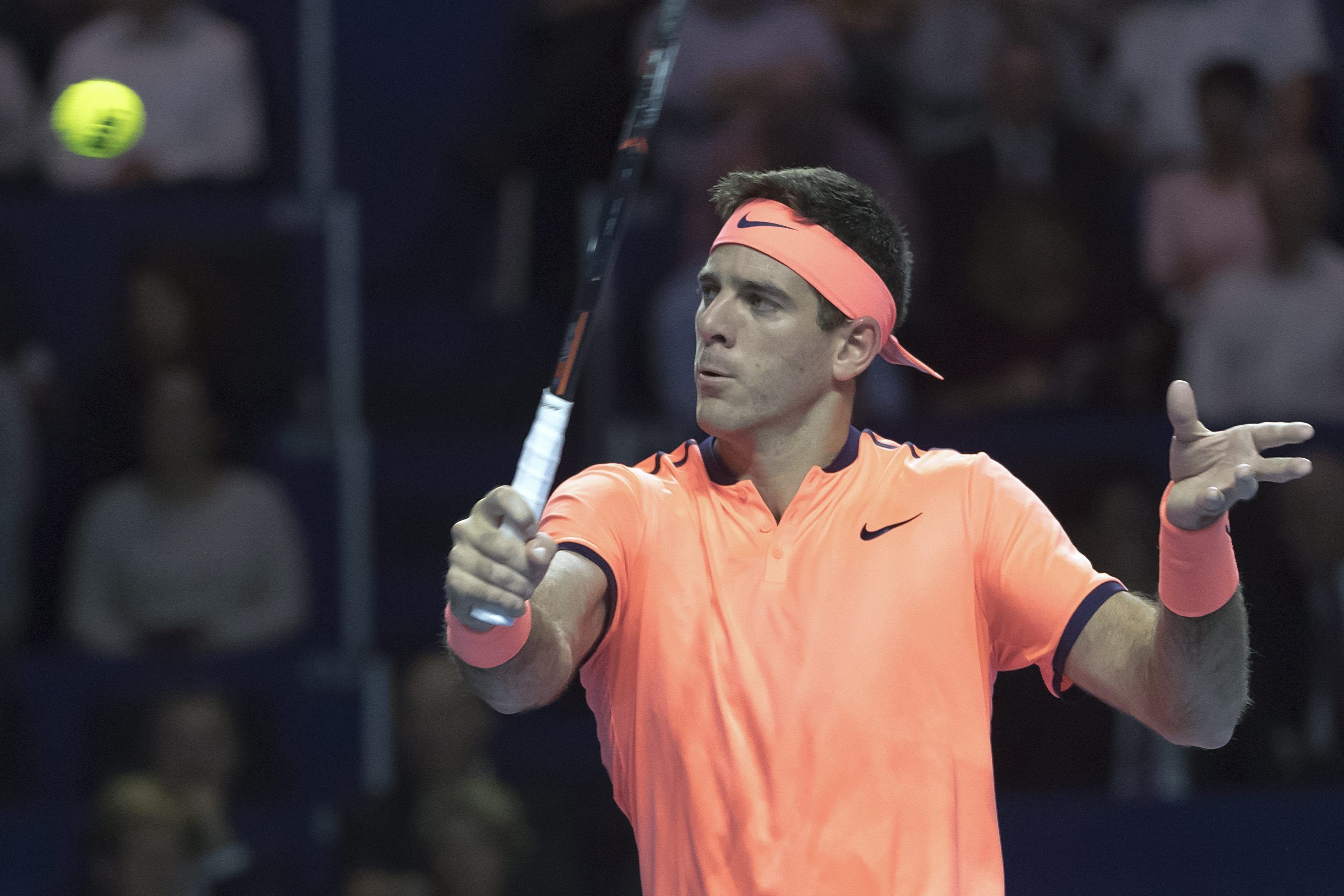 Juan Martín Del Potro venció al holandés Robin Haase por la primera ronda del ATP de Basilea