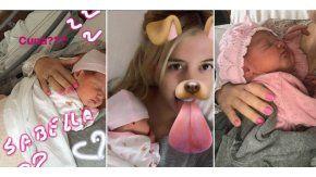 A puro Snapchat y selfies, Wanda Nara se divierte con Isabella, su quinta hija