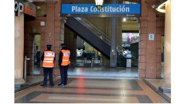 La estación Constitución, cerrada al público