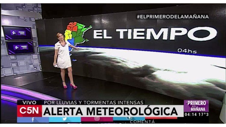 Pronóstico del tiempo del miércoles 26 de octubre de 2016 para todo el país en C5N