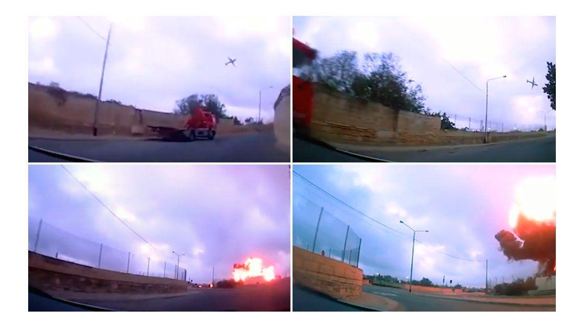 El avión se estrelló este lunes cerca del aeropuerto maltés de Luqa.