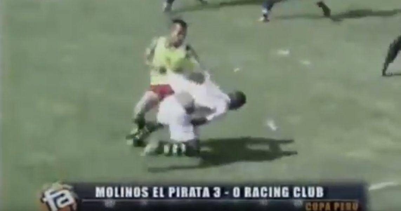 VIDEO: Brutal batalla campal en un partido del fútbol peruano