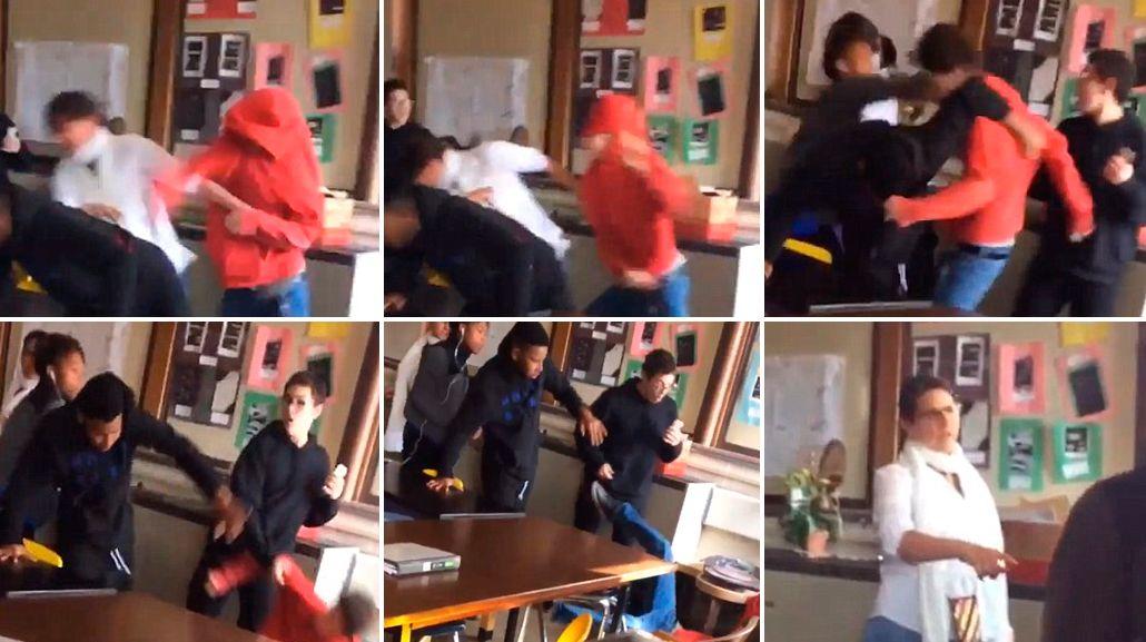El estudiante no participaba de la escena
