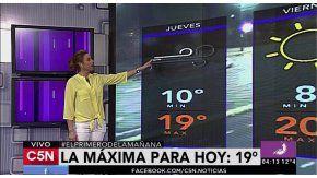 El pronóstico del tiempo del 27 de octubre de 2016 para toda la Argentina en C5N