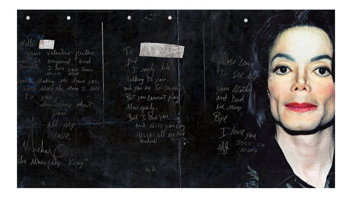 Publican las cartas de amor de Michael Jackson a una chica de 12 años