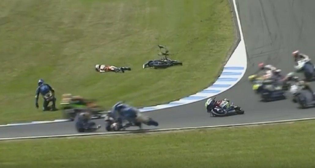 La carrera estuvo parada durante 10 vueltas