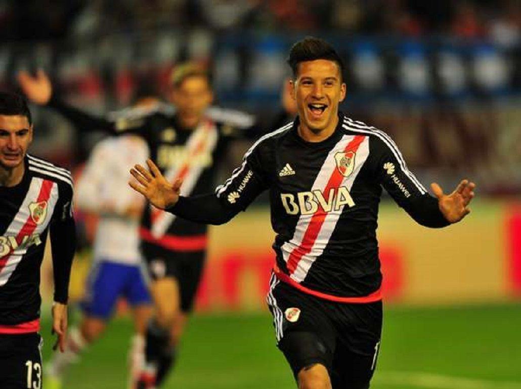 Sebastián Driussi marcó el primer gol de River ante Unión por los cuartos de final de la Copa Argentina