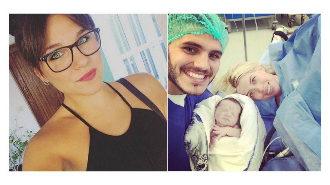 El blooper de Ivana Icardi cuando anunció el nacimiento de su sobrina