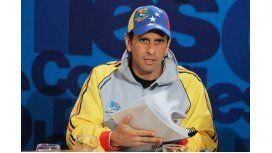Henrique Capriles Radonski, dos veces candidato a presidente de Venezuela, se niega a particiar del