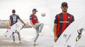Santiago Muñiz, el mejor surfista argentino, representará a San Lorenzo