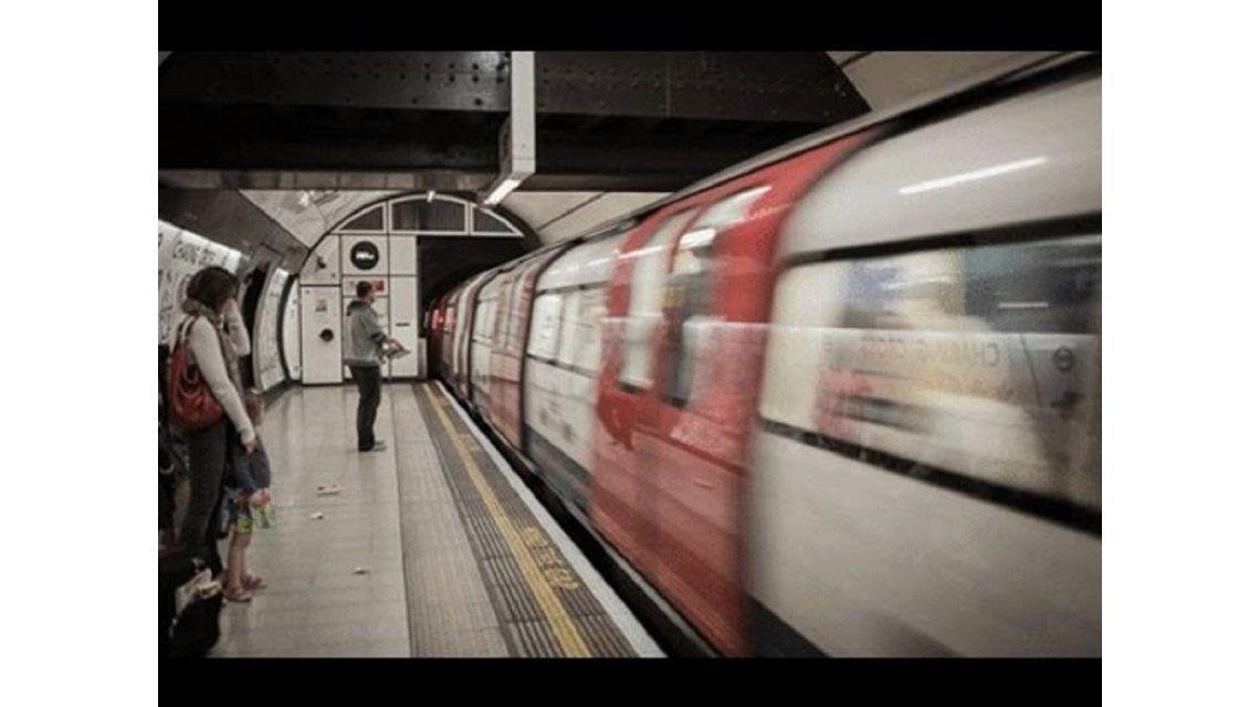 Ilusión óptica del tren