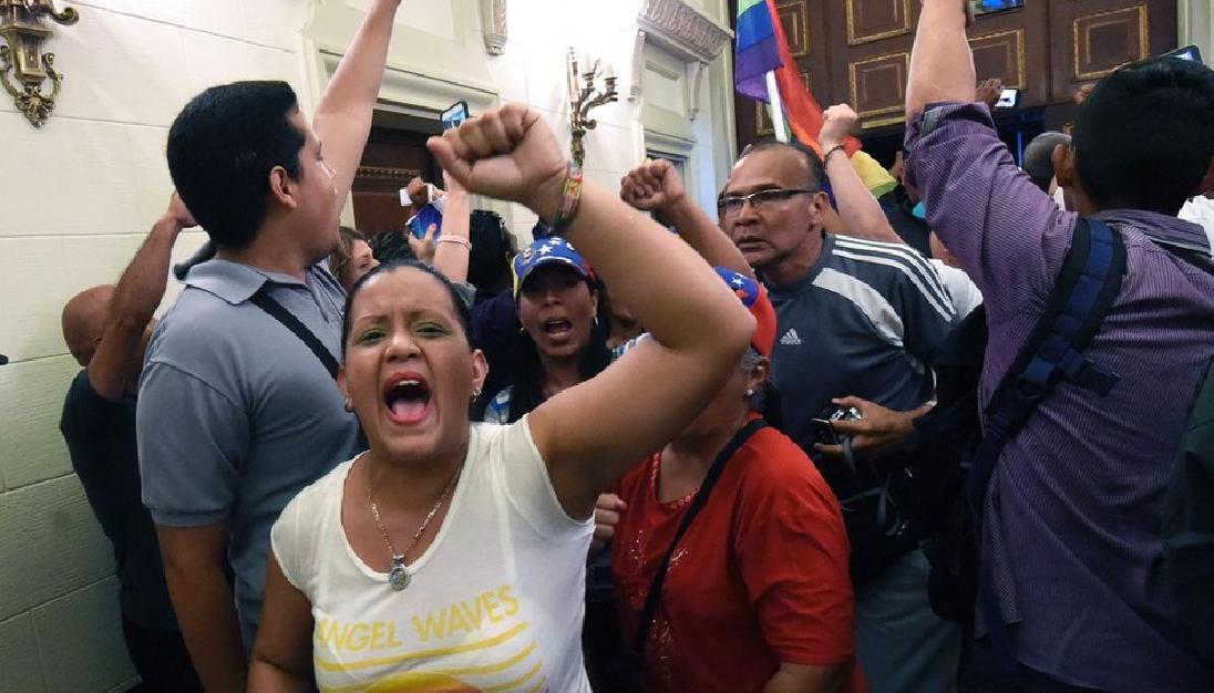 La sesión en el Parlamento venezolano