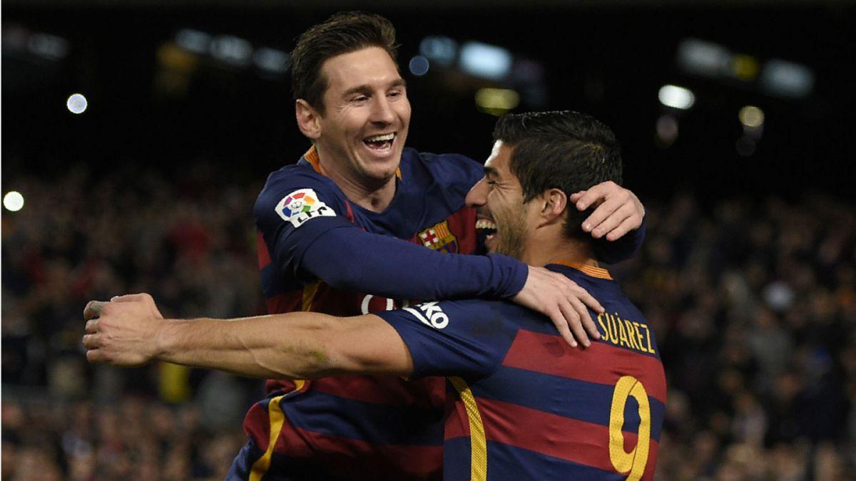 Lionel Messi felicitó a su compañero en Barcelona el uruguayo Luis Suárez