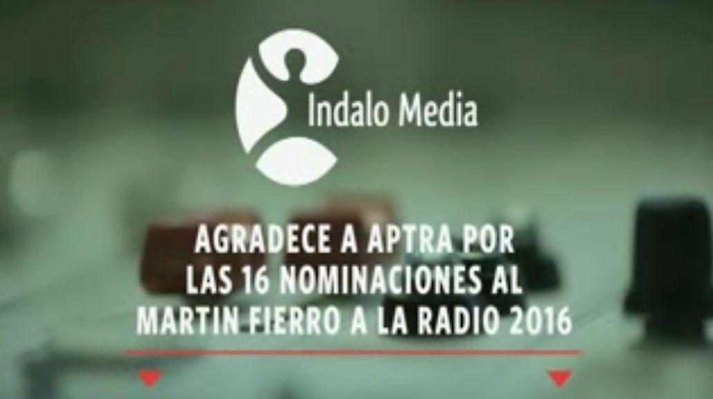 Indalo Media agradece a APTRA por las 16 nominaciones al Martín Fierro de Radio